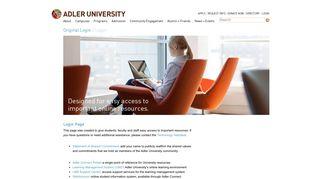 Adler Connect Portal Login