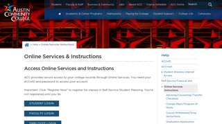 Austin Community College Student Portal