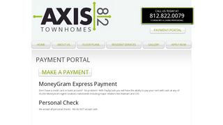 Axis 812 Payment Portal