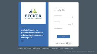 Becker Online Portal