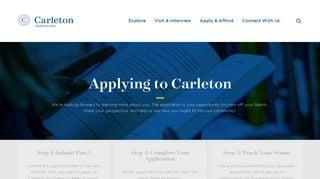 Carleton College Admissions Portal