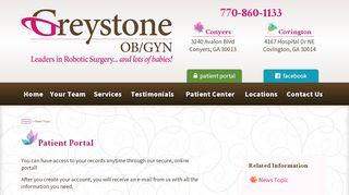 Greystone Ob Gyn Patient Portal