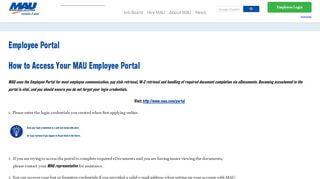 Mau Employee Portal
