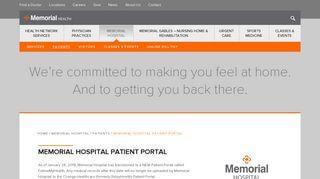 Memorial Hospital Portal Login
