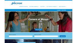 Micron Job Portal