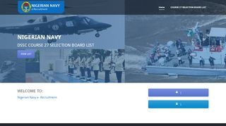 Nigerian Navy Short Service Recruitment Portal