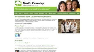 North Country Family Practice Patient Portal
