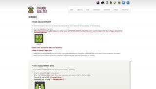 Parade College Portal