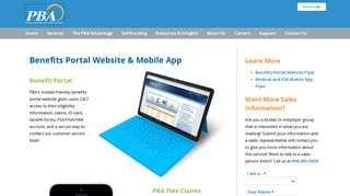 Professional Benefits Portal Websitertal-and-apps
