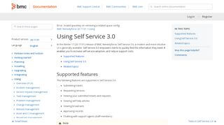 Remedyforce Self Service Portal