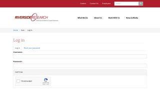 Riverside Research Employee Portal