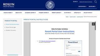 Roslyn Parent Portal