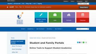 Seattle Public Schools Student Portal