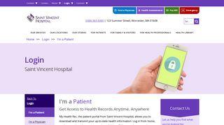 St Vincent Worcester Ma Patient Portal
