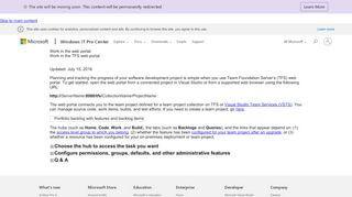 Tfs Web Portal