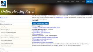Uml Housing Portal