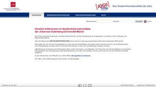 Uni Mainz Online Portal