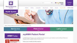 Wayne Memorial Hospital Patient Portal
