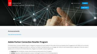 Adobe Partner Connection Portal