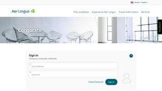Aer Lingus Corporate Portal