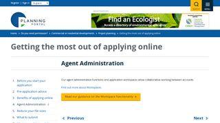 Agent Admin Planning Portal