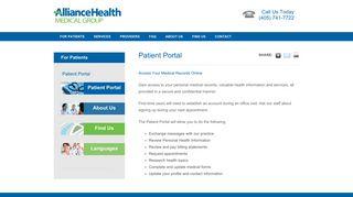 Alliance Health Deaconess Patient Portal