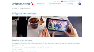 American Airlines Wireless Entertainment Portal