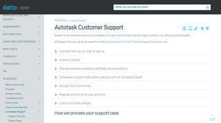 Autotask Support Portal