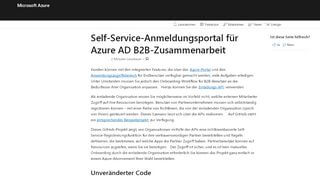 Azure B2b Portal