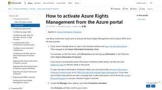 Azure Rights Management Portal
