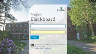 Babson Portal Blackboard