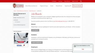 Badger Portal Job Search