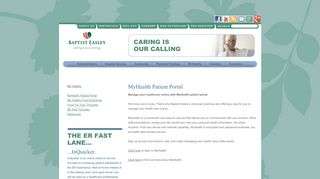 Baptist Easley Patient Portal