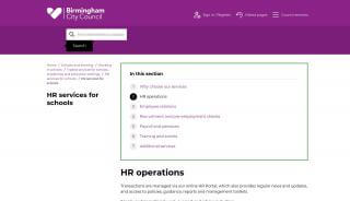 Birmingham City Council Hr Portal