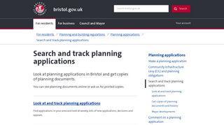 Bristol City Council Planning Portal