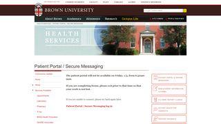 Brown Health Services Portal