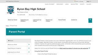 Byron Bay High School Student Portal