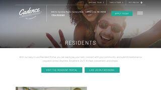 Cadence Music Factory Resident Portal