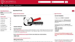 Caldwell Portal Student Forms