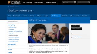 Cambridge Self Service Portal