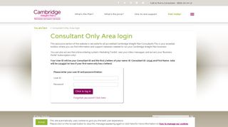 Cambridge Weight Plan Consultant Only Login