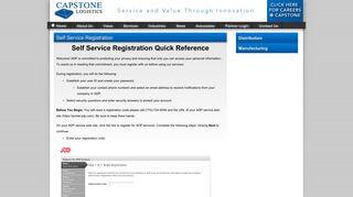 Capstone Logistics Self Service Portal