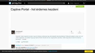 Captive Portal Magyarul