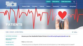 Carroll County Memorial Hospital Patient Portal