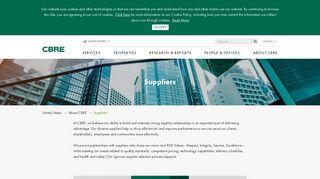 Cbre Supplier Portal