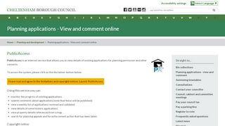 Cheltenham Planning Portal