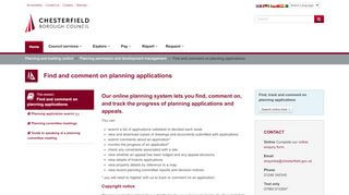 Chesterfield Borough Council Planning Portal
