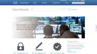 Cisco Security Portal