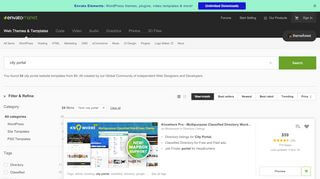 City Portal Website Templates