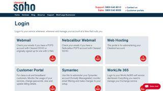 Claranet Webmail Login Portal